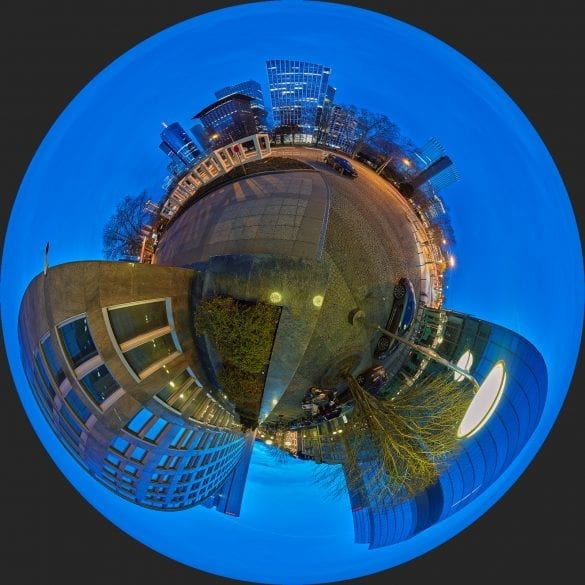 Little Planet Galileo Tower Frankfurt